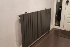 Modern black radiator