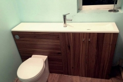 Toilet and basin vanity unit